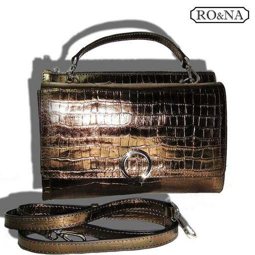 Женская Итальянская сумка из кожи через плечо - небольшая