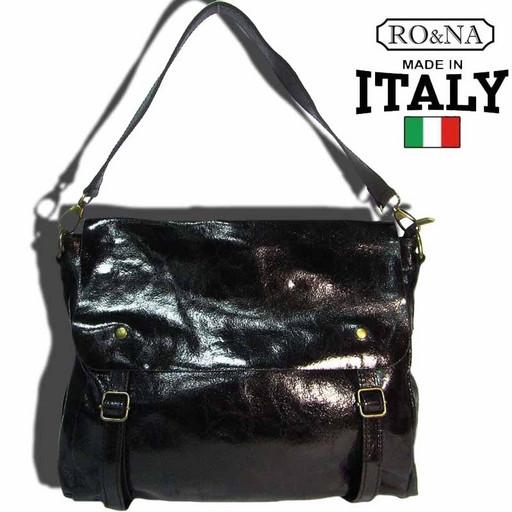 Сумка-портфель деловая из натуральной кожи - Итальянская почтальонка