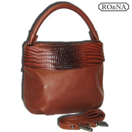 Женская сумка из натуральной кожи - рыже коричневая