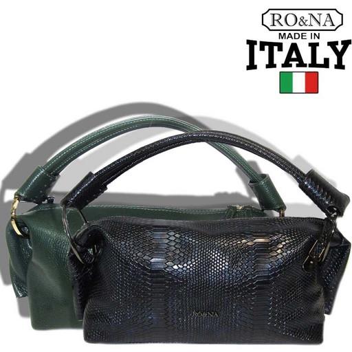 Женская сумка из натуральной кожи - багет