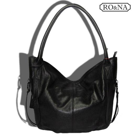 Большая кожаная сумка на плечо - Итальянская