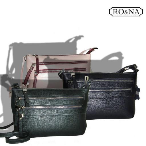 Женская сумка из натуральной кожи через плечо - небольшая кросс боди