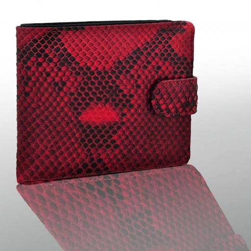 Красный кошелек из кожи питона