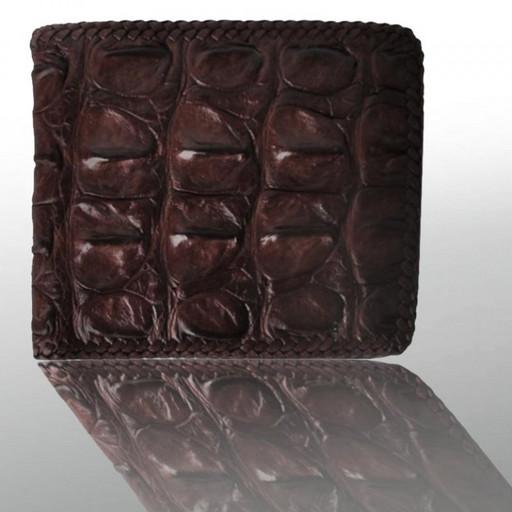 Кожаный кошелек мужской из крокодила