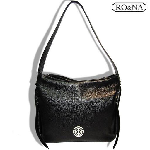 Женская сумка из натуральной кожи с одной ручкой на плечо - много отделений