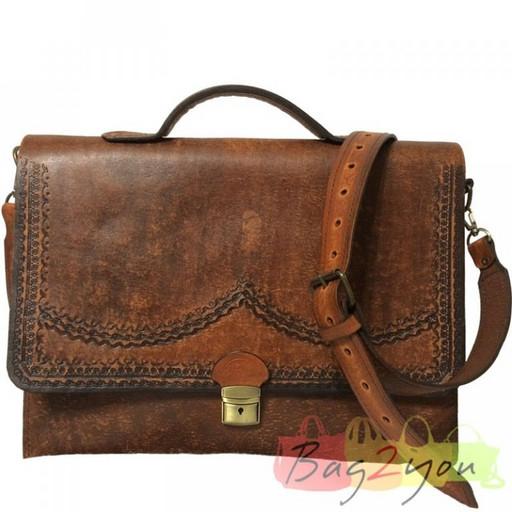 Мужская сумка из натуральной кожи-ручной работы