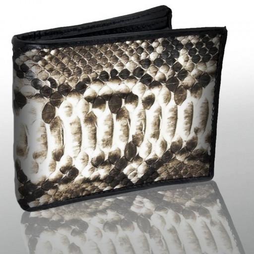 Кожаный кошелек-портмоне из кожи питона