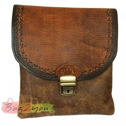 Мужская, кожаная сумка - планшет из бизона