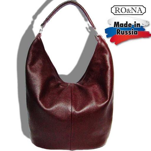 Большая женская кожаная сумка на плечо - Hobo