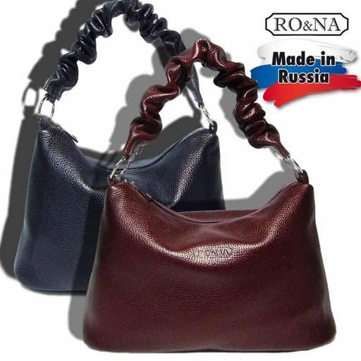 Женская кожаная сумка с гофрированной ручкой на плечо-RO&NA