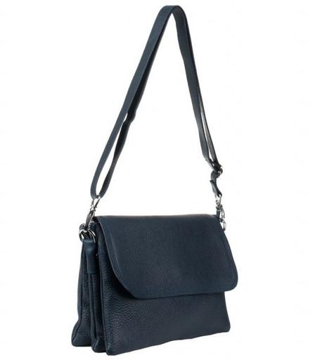 Женская темно синяя сумка crossbody 6550