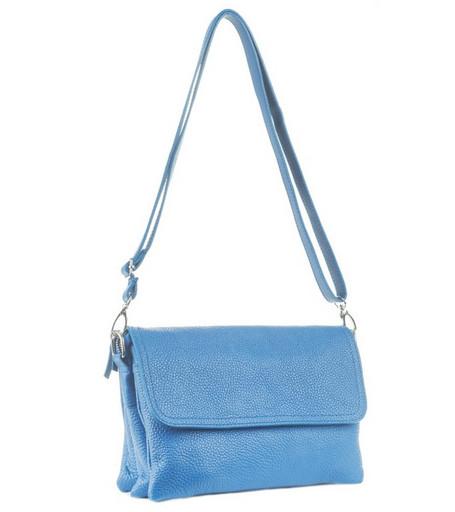 Женская голубая небольшая сумка 6550