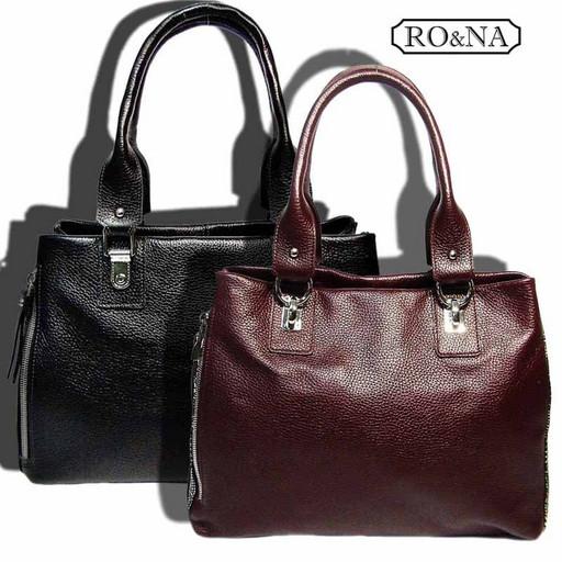 Женская классическая кожаная сумка-много отделений