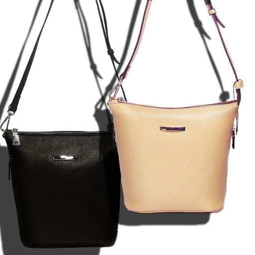 Женская маленькая сумка через плечо - натуральная Итальянская кожа