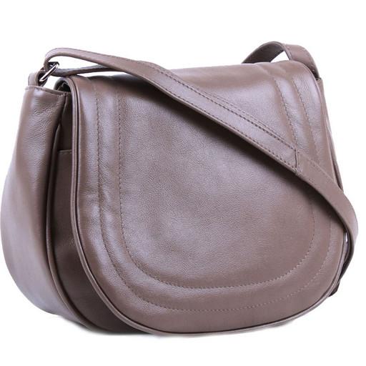 Кожаная сумка седло - женская кросс боди