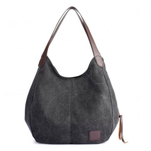 Мягкая сумка хобо, из текстильной ткани - много отделений