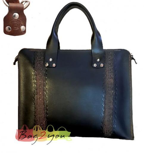 Женская деловая сумка кожа