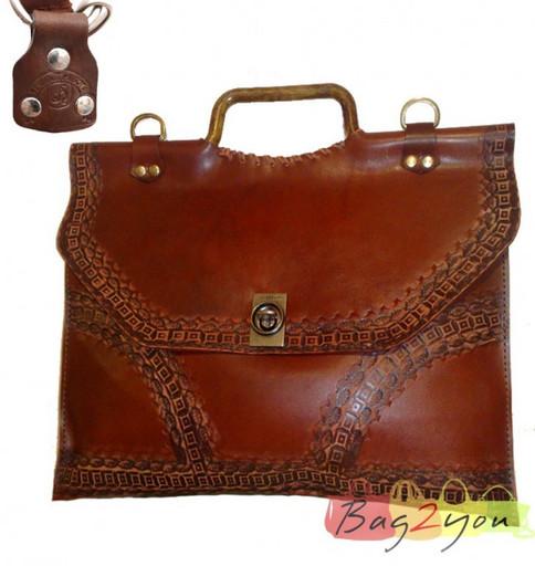 Авторский кожаный портфель