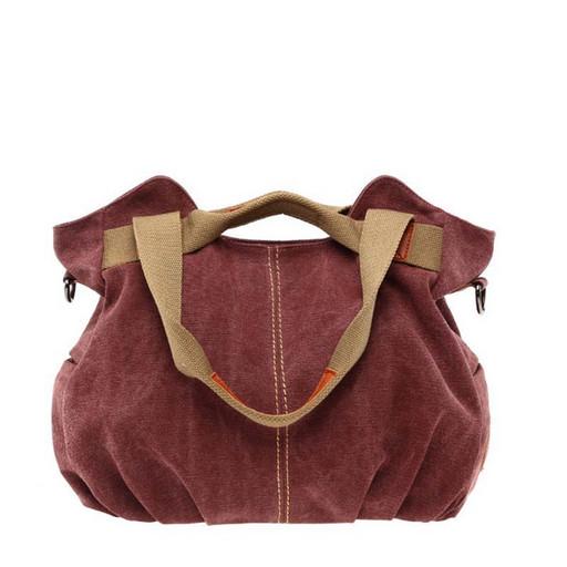 Женская сумка из ткани - легкая, прочная модель с 2 ручками