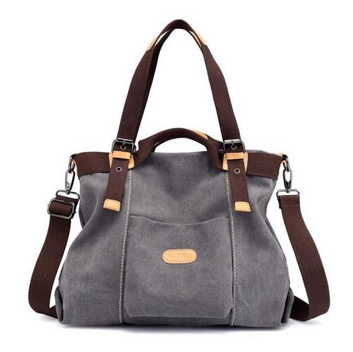 Женская сумка с короткими и длинными ручками