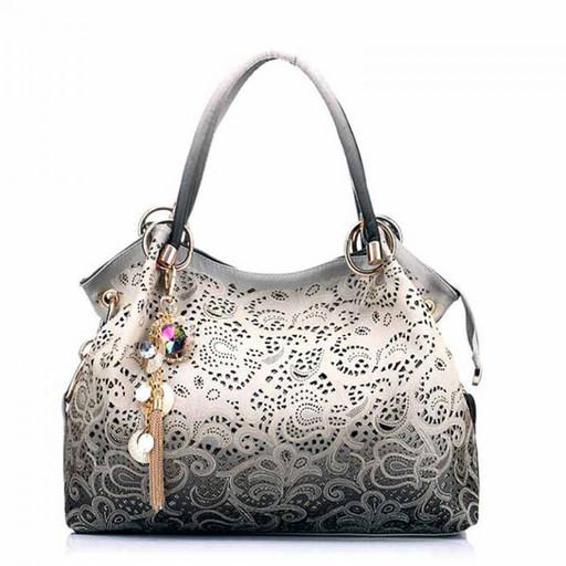 Красивая сумка омбре с перфорацией