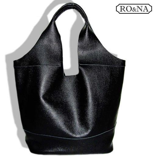 Большая женская сумка из натуральной кожи - мягкий Шоппер