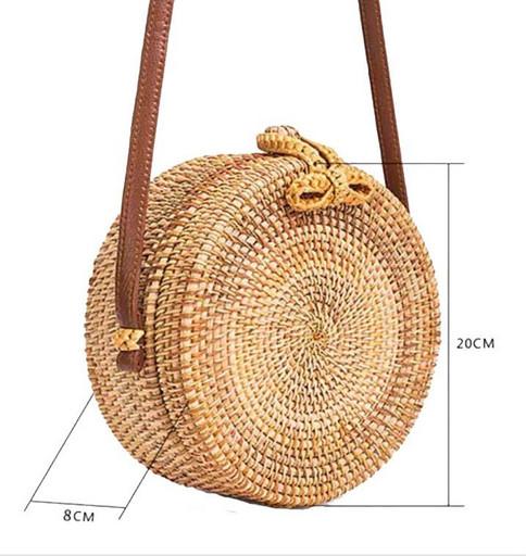 Плетенная сумка круглая