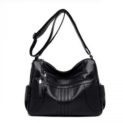 Черная сумка много карманов