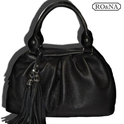 Кожаная женская Итальянская сумка - мягкий бочонок