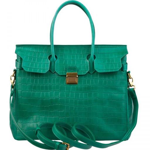 Изумрудная сумка из натуральной кожи - Келли от Alexander TS