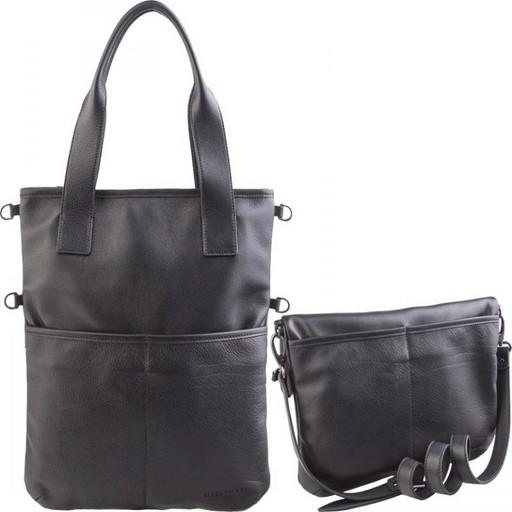 Большая, женская, кожаная сумка - трансформер