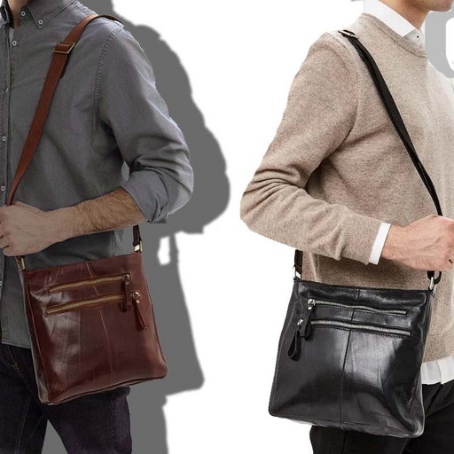 Мужская, кожаная сумка - планшет