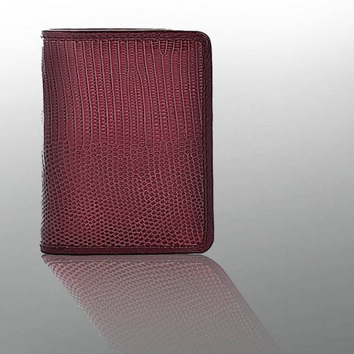 Визитница для карт - из натуральной кожи варана