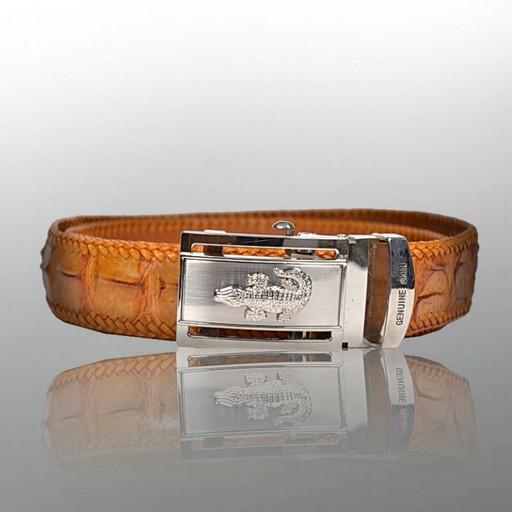 Мужской ремень - дорогой подарок из кожи крокодила