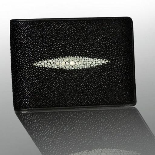 Портмоне из натуральной кожи ската - много карманов и отделений