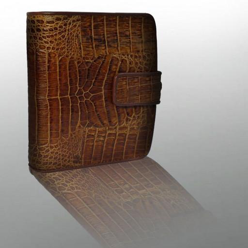 Мужской кошелек портмоне из кожи крокодила