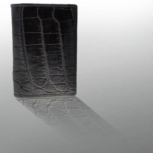 Крутая обложка на паспорт из кожи - брюхо крокодила