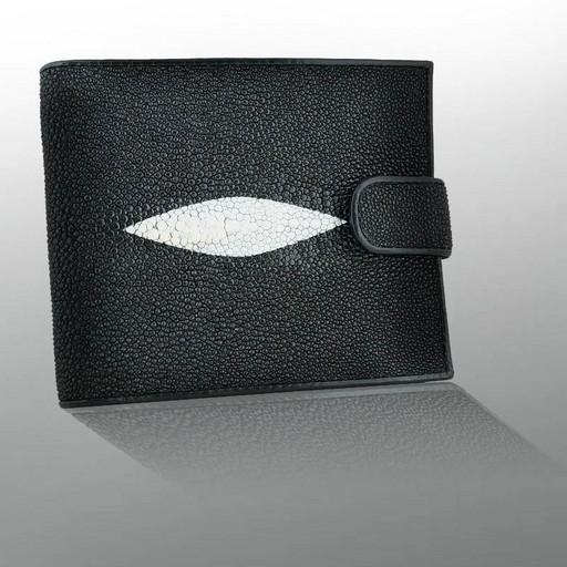 Мужской бумажник - горизонтальное портмоне из кожи ската