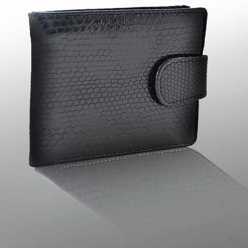Мужской бумажник из кожи морской змеи