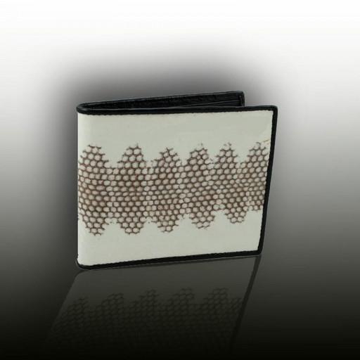Бумажник из натуральной кожи мурены
