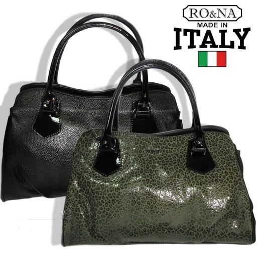 Итальянская деловая женская сумка из натуральной кожи - много отделений