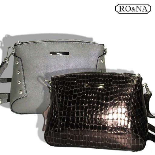 Женская маленькая кожаная сумка через плечо-RONA