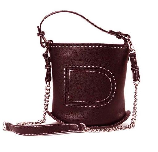 Женская кожаная сумка торба - цилиндр