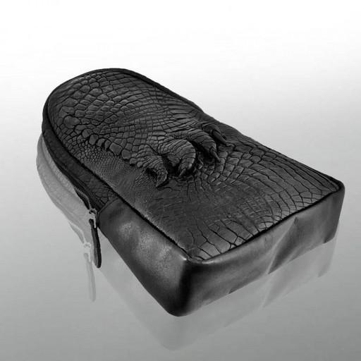 Мужская кожаная сумка рюкзак слинг из крокодила