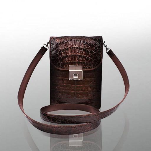 Мужская сумка - планшет, из кожи крокодил