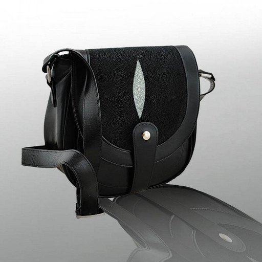Кросс боди сумка - кожа ската