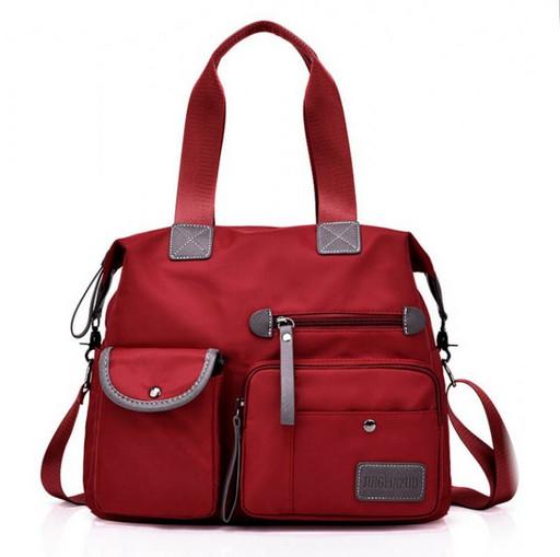 Тканевая сумка красная