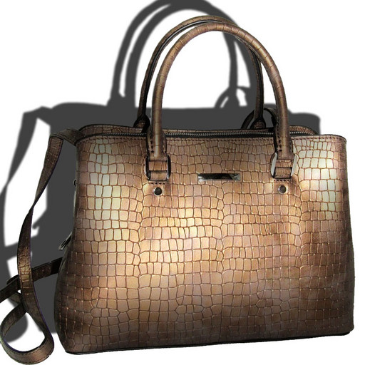 Итальянская женская сумка из натуральной кожи - много отделений