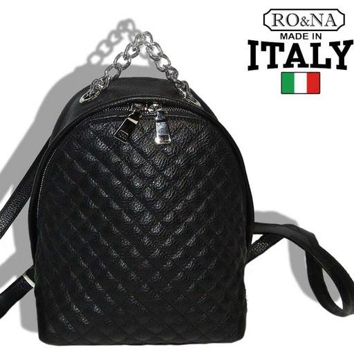 Женский кожаный рюкзак-сумка со стеганной строчкой