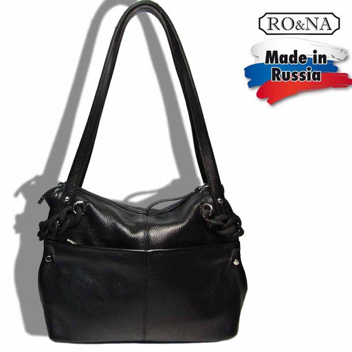 Кожаная сумка для взрослых дам - классическая на плечо
